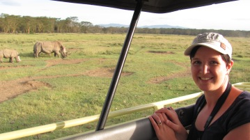 Me and White Rhinos up close at Lake Nakuru, Kenya