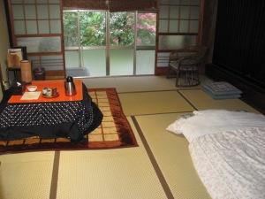 A typical room at a minshuku (Japanese Inn)