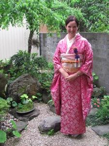 Dressed in traditional Kimono, Kyushu