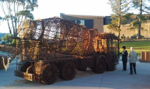 Wrought-iron cement mixer at MONA
