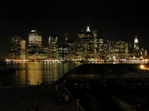Manhattan by Night - view from Brooklyn