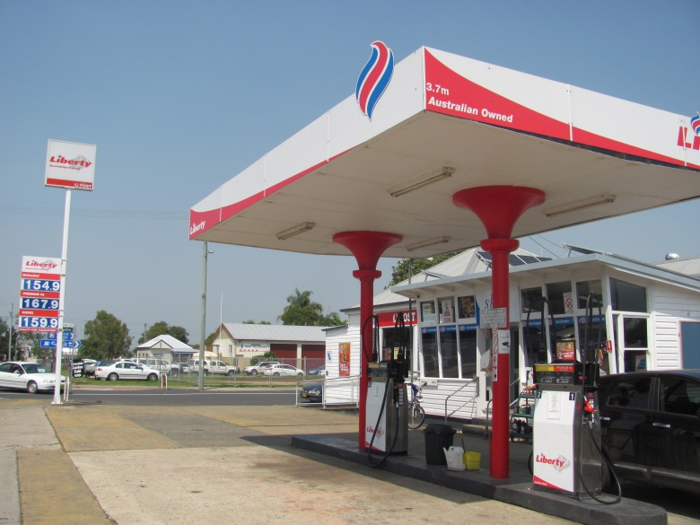 Small town petrol station, NSW