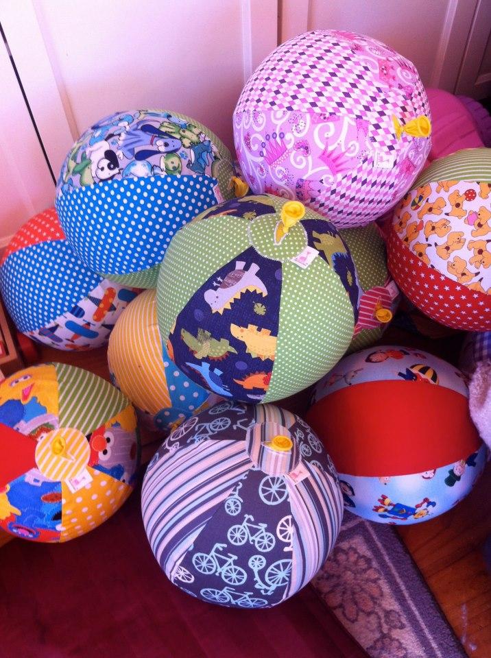 Balloon Ball Covers - made by My Little Giraffe