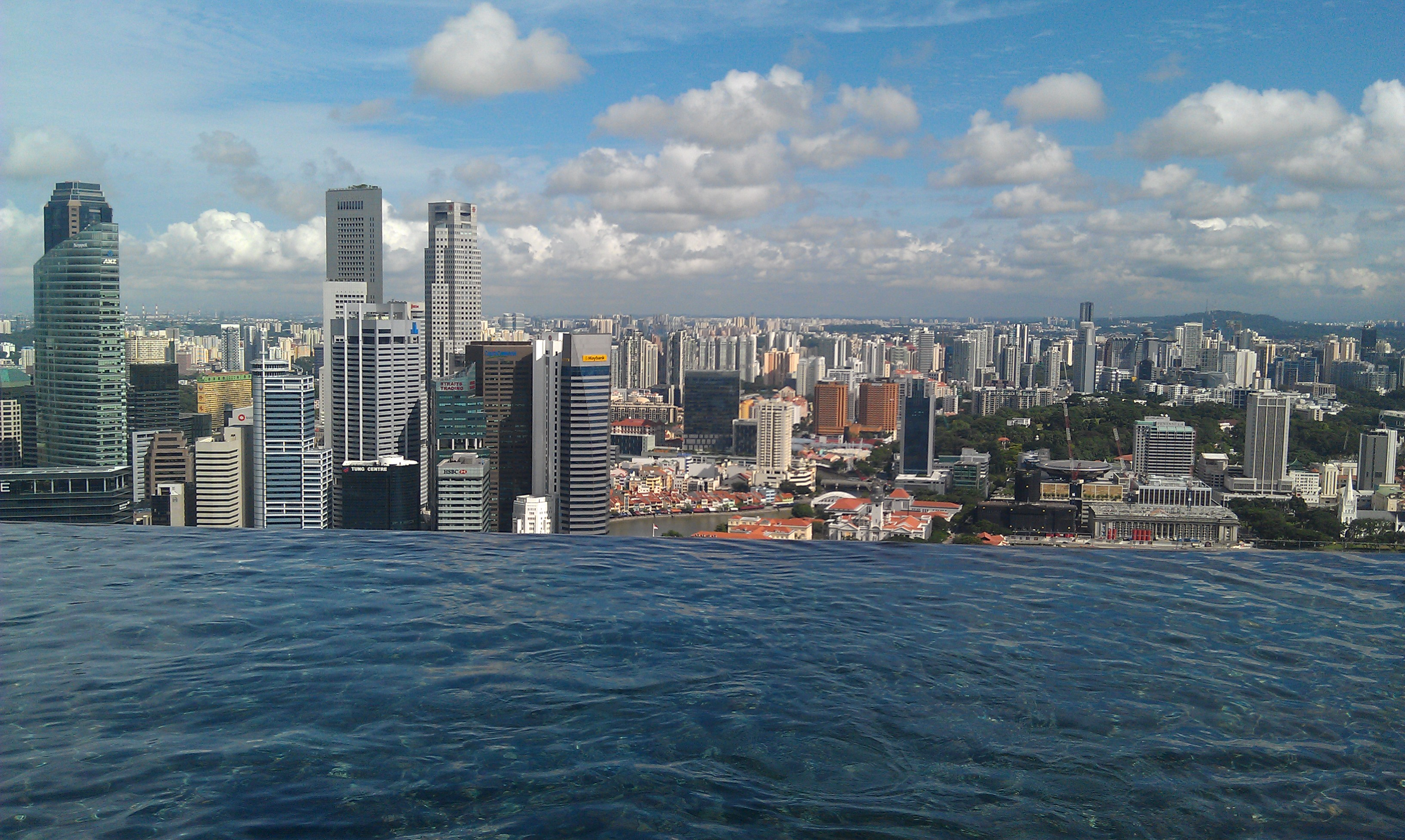 Singapore slings rooftop swims sonia jones travel - Marina bay singapore pool ...