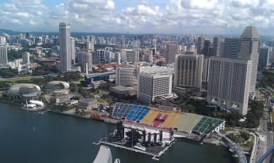 Skyline from Marina Bay Sands