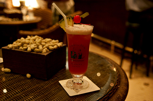 Singapore Sling at the Long Bar, Raffles