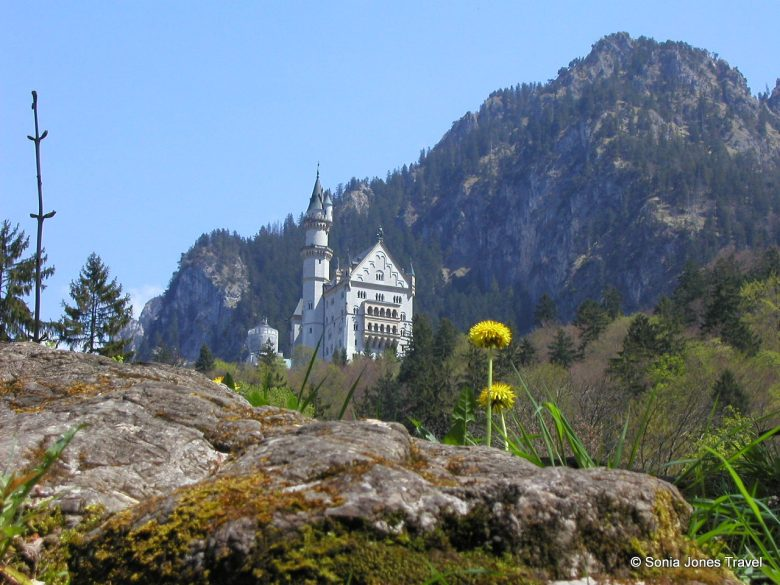 Neuschwanstein from below