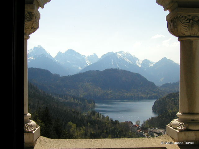 Magnificent view from the throne room, Neuschwanstein Castle