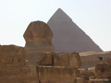Sphinx and Pyramid at Giza