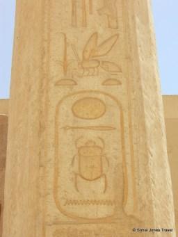 Heiroglyphics at Queen Hatshepsup Temple