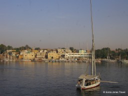 A Felucca on the Nile at Aswan