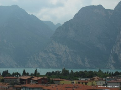 First glimpses of Lake Garda from the top of the ridge