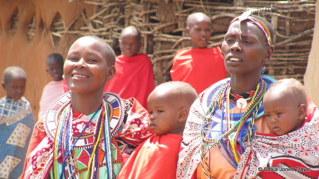 Masai women and their children, Kenya