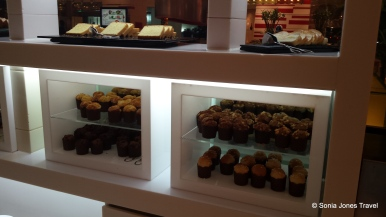 Some baked breakfast delights at the buffet