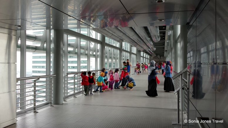 The Sky Bridge connecting the two towers, Petronas