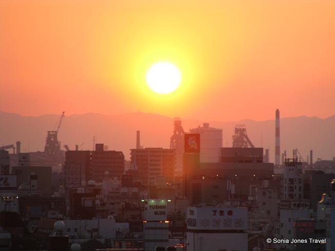 Sunset across Wakayama skyline, Japan