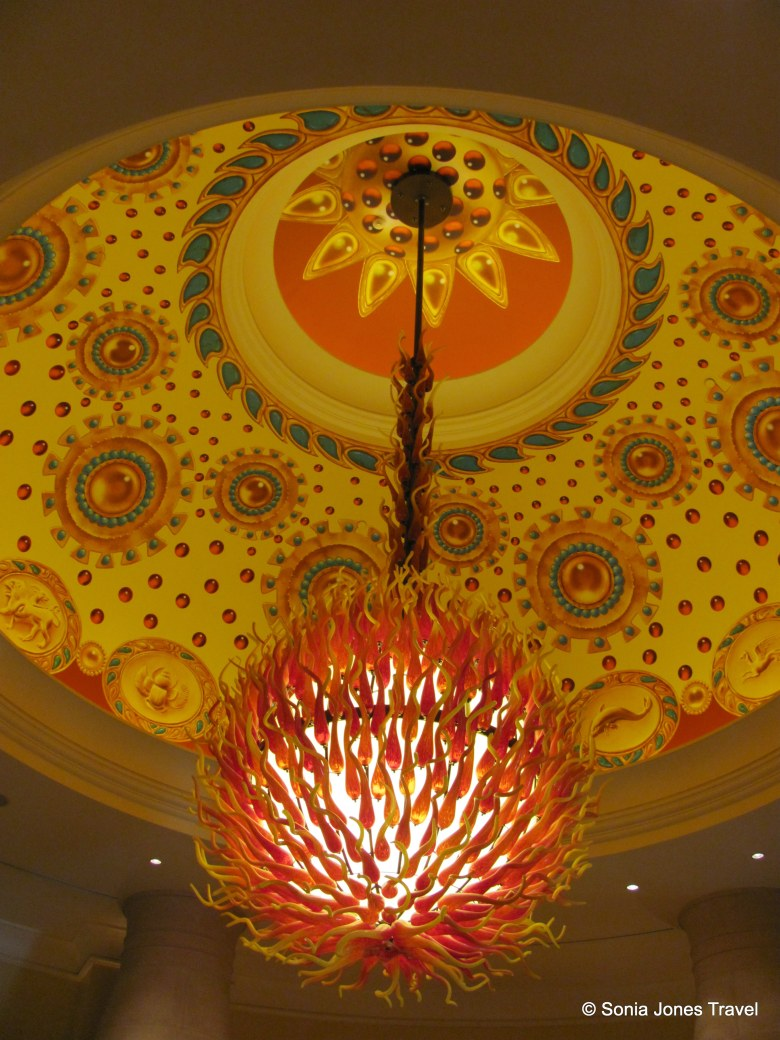 Coral-inspired orange light at Atlantis the Palm, Dubai