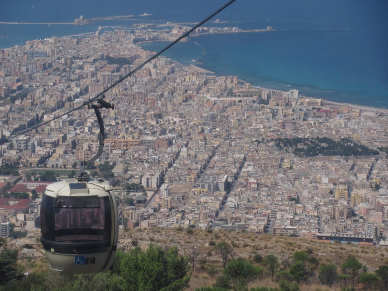 From the Cable Car - Trapani below