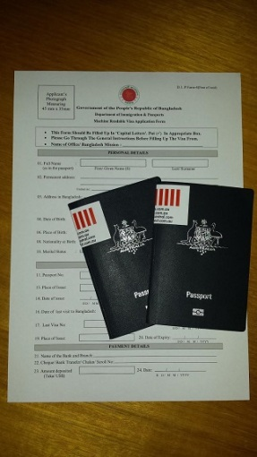 Visas are required for Australian passport holders for travel to Bangladesh