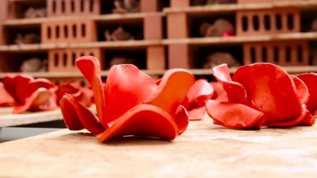 Poppies up close - each was handmade by one of twelve artists. Photo from Historic Royal Palaces
