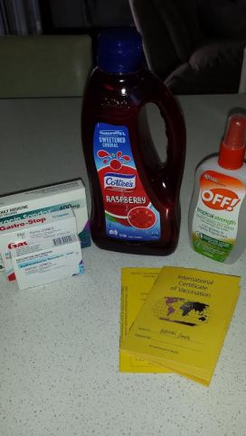 Travel preparations - health related