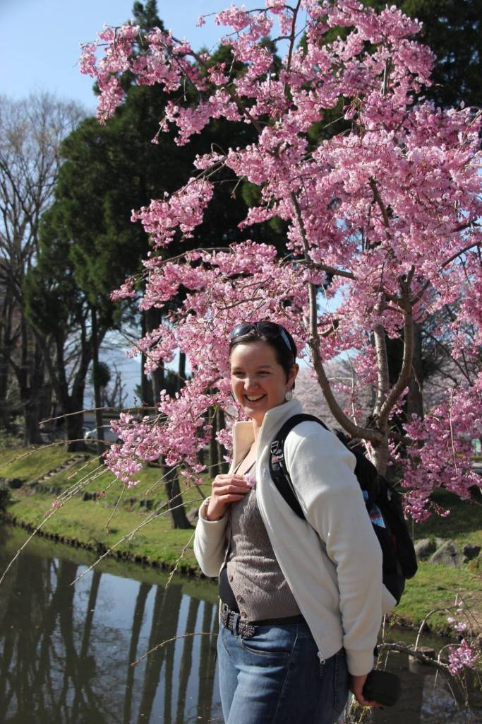Laughing among the cherry blossoms, Kyushu, Japan