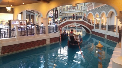 Gondola rides at the Venetian, Macau