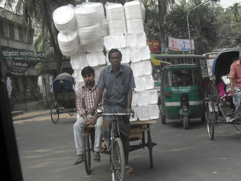 When your load is off-centre - my 9 year old's photo from Mymensingh, Bangladesh