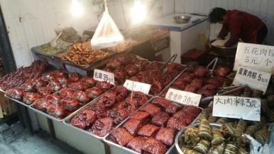 Zhujiajiao market food