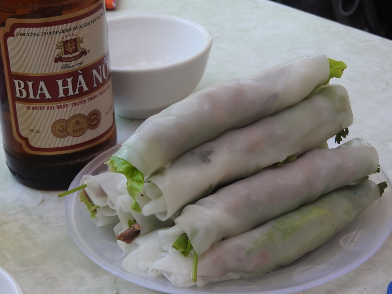 Rice paper rolls made from pho