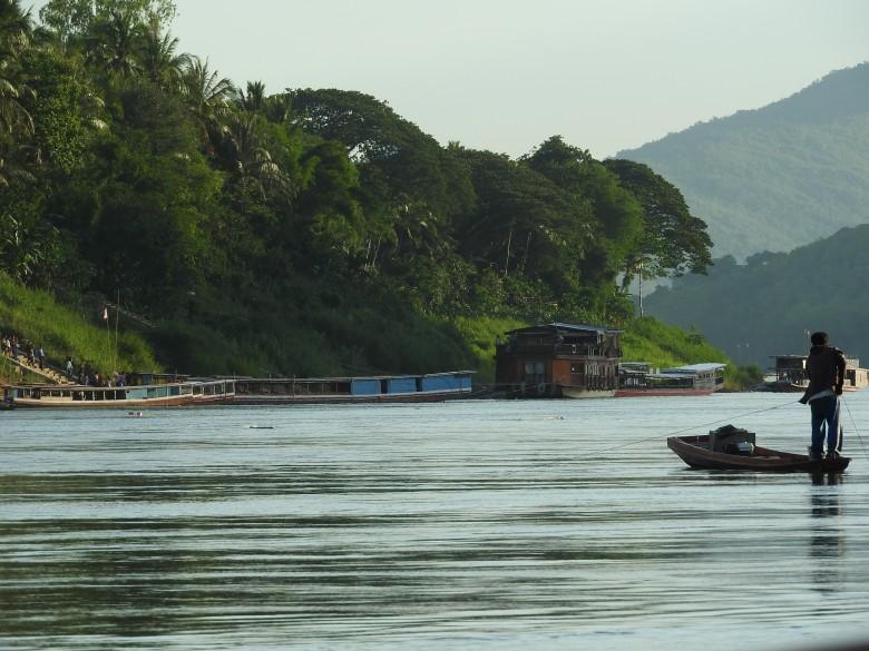 Fishing on the Mekong near Luang Prabang