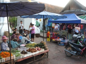 Locals shop once or twice a day for fresh ingredients