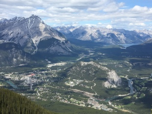 Amazing views from the top of the Gondola and Sulphur Mountain
