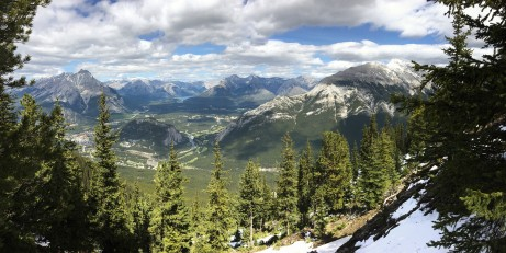 From the top of Sulphur Mountain
