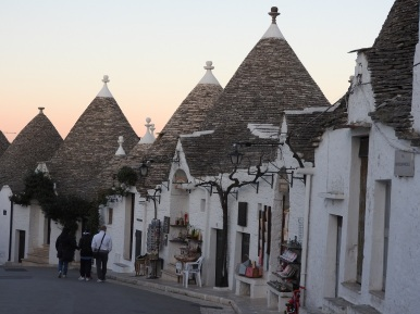 The streets of Alberobello
