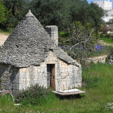 An unrestored trullo on the outskirts of town